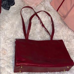 Red Monsac shoulder bag